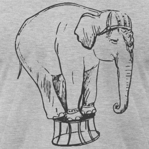 Circus Elephant - Men's T-Shirt by American Apparel