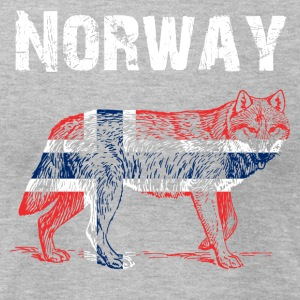 Nation-Design Norway Wolf - Men's T-Shirt by American Apparel