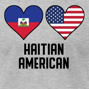 Haitian American Heart Flags - Men's T-Shirt by American Apparel