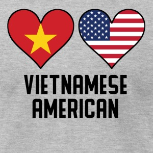 Vietnamese American Heart Flags - Men's T-Shirt by American Apparel