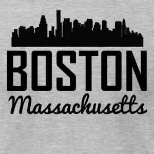 Boston Massachusetts Skyline - Men's T-Shirt by American Apparel