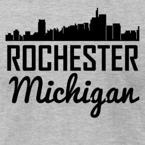 Rochester Michigan Skyline - Men's T-Shirt by American Apparel
