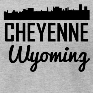 Cheyenne Wyoming Skyline - Men's T-Shirt by American Apparel