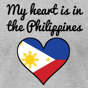 My Heart Is In the Philippines - Men's T-Shirt by American Apparel