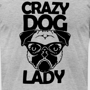 CRAZY DOG Face LADY - Men's T-Shirt by American Apparel