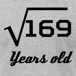 Square Root Of 169 13 Years Old - Men's T-Shirt by American Apparel