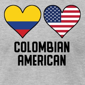 Colombian American Heart Flags - Men's T-Shirt by American Apparel