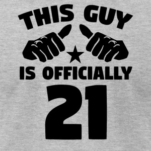 This Guy Is Officially 21 Years Old 21st Birthday - Men's T-Shirt by American Apparel