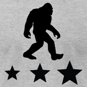 Bigfoot Silhouette - Men's T-Shirt by American Apparel