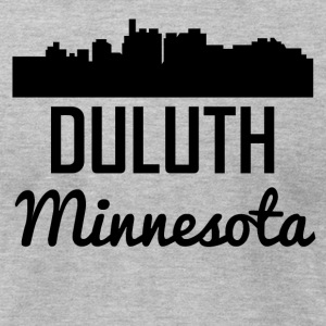 Duluth Minnesota Skyline - Men's T-Shirt by American Apparel