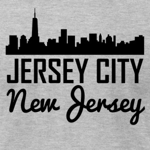 Jersey City New Jersey Skyline - Men's T-Shirt by American Apparel
