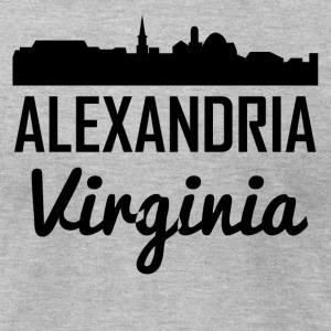 Alexandria Virginia Skyline - Men's T-Shirt by American Apparel