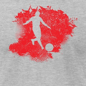 Kickball Paint Splatter - Men's T-Shirt by American Apparel