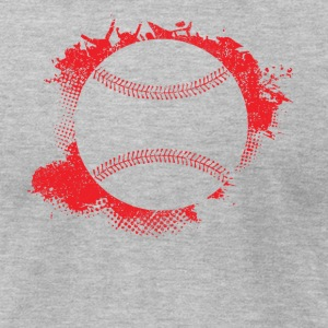 Baseball Paint Splatter - Men's T-Shirt by American Apparel