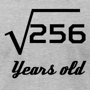 Square Root Of 256 16 Years Old - Men's T-Shirt by American Apparel