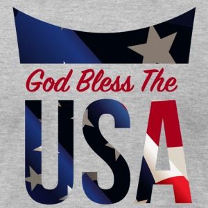 God Bless The USA Veterans T-Shirts - Men's T-Shirt by American Apparel