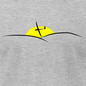 sunset glider pilot - Men's T-Shirt by American Apparel