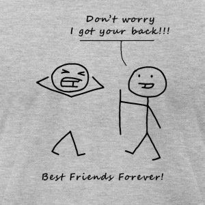 Don't worry BFF Black - Men's T-Shirt by American Apparel