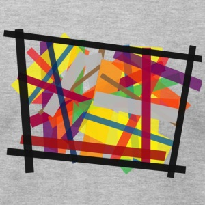 Colorful Stripe Frame - Men's T-Shirt by American Apparel