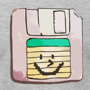 smiley floppy disk - Men's T-Shirt by American Apparel