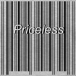 priceless barcode - Men's T-Shirt by American Apparel