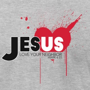 Jesus Love Your Neighbor - Men's T-Shirt by American Apparel