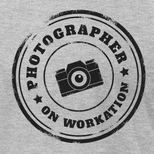 PHOTOGRAPHER ON WORKATION - Men's T-Shirt by American Apparel