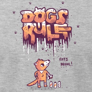 Dogs Rule - Men's T-Shirt by American Apparel