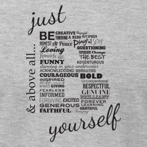 Just B Yourself_blk.txt - Men's T-Shirt by American Apparel