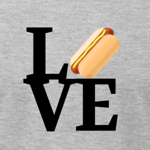 Hot Dog Love - Men's T-Shirt by American Apparel