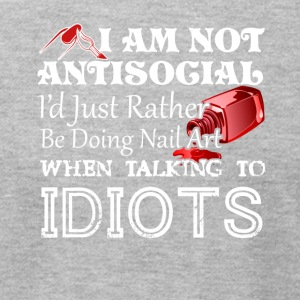AntiSocial Id Just Rather Be Doing Nail Art - Men's T-Shirt by American Apparel