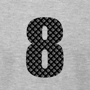 Lucky Number 8 with Lucky Chinese Character - Men's T-Shirt by American Apparel