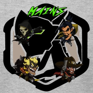 Acidtheinsane's Overwatch Mains - Men's T-Shirt by American Apparel