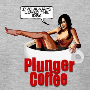 Plunger Coffee - Men's T-Shirt by American Apparel