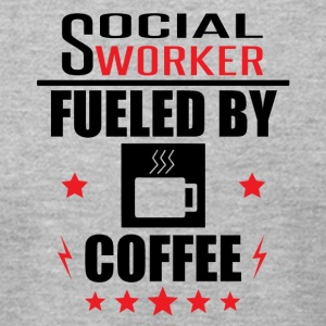 Social Worker Fueled By Coffee - Men's T-Shirt by American Apparel