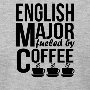 English Major Fueled By Coffee - Men's T-Shirt by American Apparel