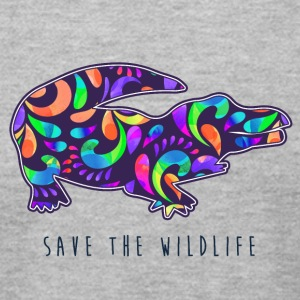 SAVE THE WILDLIFE- CROCODILE - Men's T-Shirt by American Apparel