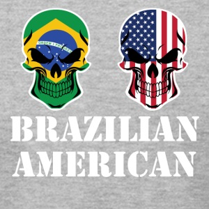 Brazilian American Flag Skulls - Men's T-Shirt by American Apparel