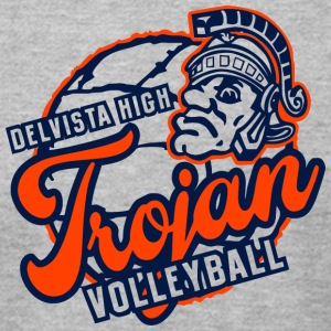 DELVISTA HIGH VOLLEYBALL Trojan - Men's T-Shirt by American Apparel