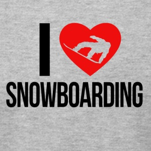 I LOVE SNOWBOARDING - Men's T-Shirt by American Apparel