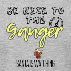 Be nice to the Gauger Santa is watching you - Men's T-Shirt by American Apparel
