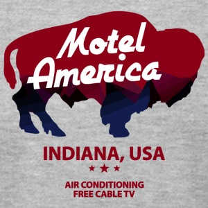 Indiana Of Motel America Free - Men's T-Shirt by American Apparel