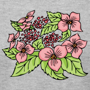 small_pink_flowers - Men's T-Shirt by American Apparel