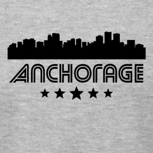 Retro Anchorage Skyline - Men's T-Shirt by American Apparel