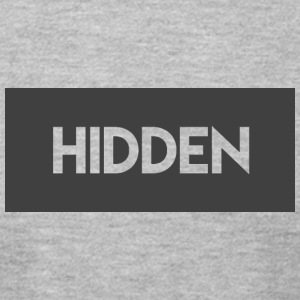 Hidden Grey and Transparent Logo - Men's T-Shirt by American Apparel