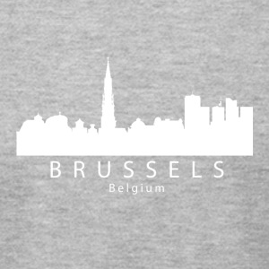 Brussels Belgium Skyline - Men's T-Shirt by American Apparel