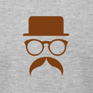 Hipster Brown - Men's T-Shirt by American Apparel