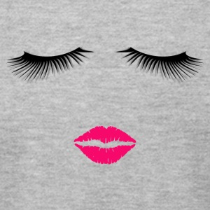 Lipstick and Eyelashes - Men's T-Shirt by American Apparel