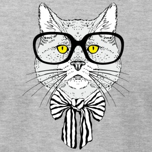 Intellegent_cat_with_glasses - Men's T-Shirt by American Apparel