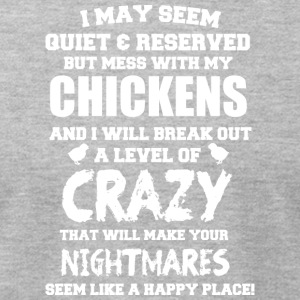 Mess With My Chickens T Shirt - Men's T-Shirt by American Apparel